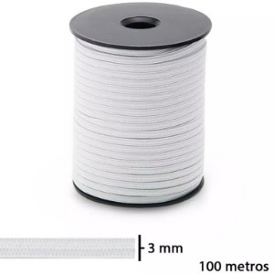 Elástico Jaraguá N. 3 Zanotti | 3mm - Rolo Com 100 Metros