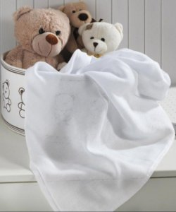 Tecido Fralda Algodão 70cm Dohler Liso - Branco - 70 x 70 cm