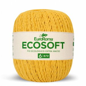 Barbante Ecosoft Euroroma - 8/12 | 452m Cor 450 - Amarelo Ouro