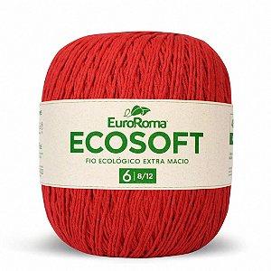 Barbante Ecosoft Euroroma - 8/12 | 452m Cor 1000 - Vermelho