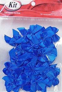 Laço de Cetim N.2 REF YY004 - Azul Royal - Pacote Com 50 Unidades