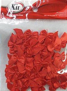 Laço de Cetim N.2 REF YY004 - Vermelho - Pacote Com 50 Unidades