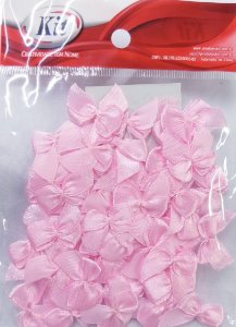 Laço de Cetim N.2 REF YY004 - Rosa Bebê - Pacote Com 50 Unidades