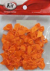 Laço de Cetim N.2 REF YY004 - Laranja - Pacote Com 50 Unidades