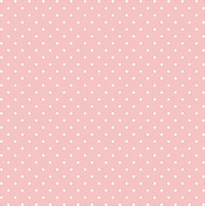 Tecido Tricoline Estampado Poá Rosa 100% Algodão Peripan - COR 108 - 1,00x1,50m