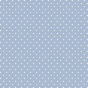 Tecido Tricoline Estampado Poá Azul Bebê 100% Algodão Peripan - COR 109 - 1,00x1,50m