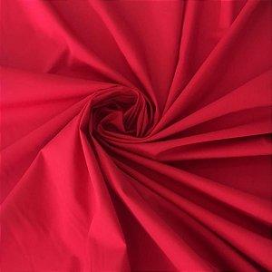 Tecido Tricoline Liso Vermelho 100% Algodão - 1,00x1,50m