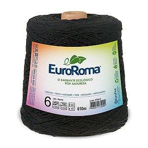 Barbante Euroroma 6 600g - Preto - 250
