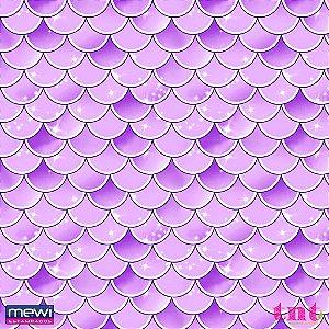 TNT Estampado Escamado Lilás 3834 - 100 x 140 cm