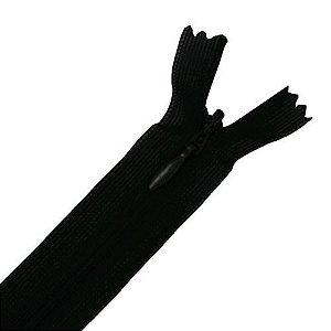 Zíper Invisível Telado Preto - C/10 unidades