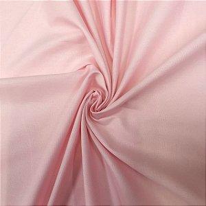 Tecido Tricoline Liso Rosa Bebê 100% Algodão - 1,00x1,50m