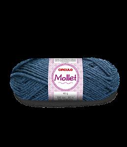 Lã Mollet 40g Cor - 2423 - FIBRA NEGRA