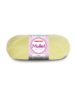Lã Mollet 40g Cor - 325 - AMARELO CANDY