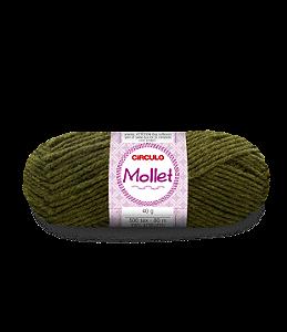 Lã Mollet 40g Cor - 5899 - FIBRA NEGRA