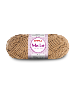 Lã Mollet 40g Cor - 7628 - ANDIROBA