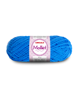 Lã Mollet 40g Cor - 786 - AZUL