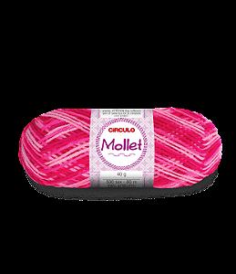 Lã Mollet 40g Cor - 9339 - VIBRANTE