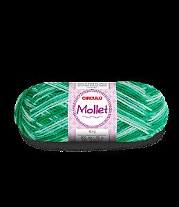 Lã Mollet 40g Cor - 9440 - QUARTZO VERDE