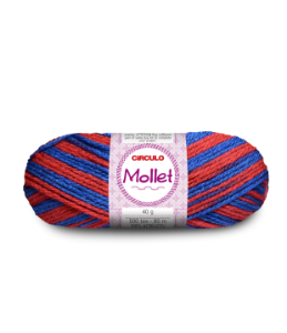 Lã Mollet 40g Cor - 9542 - NAVY