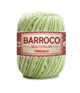 Barbante Barroco Multicolor N.6 200g Cor 9384 - GREENERY