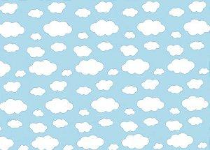 TNT Estampado - Nuvens - 100x140cm