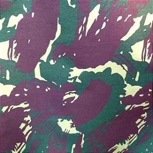 Tecido Tricoline Estampado Camuflado 100% Algodão Peripan 100X150 cm