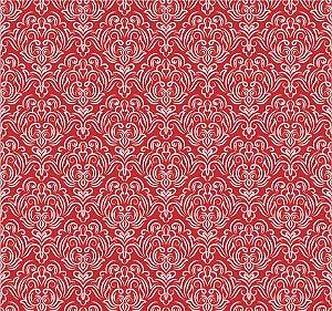 Tecido Tricoline Estampado Arabesco 100% Algodão Peripan 100X150 cm - COR 157