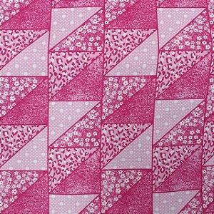 Tecido Tricoline Estampado Patchwork Flores 100% Algodão - COR 160 - 1,00x1,50m