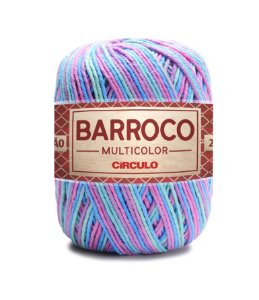 Barbante Barroco Multicolor N.6 200g Cor  9184 - SEREIA