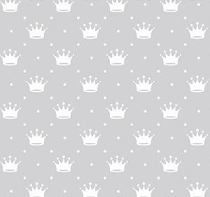 Tecido Tricoline Peripan Estampado Coroas 100% Algodão 100x150cm - COR 195