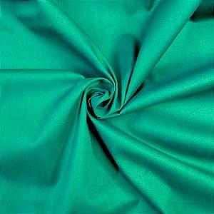 Tecido Tricoline Liso Verde Natal 100% Algodão - 1,00x1,50m