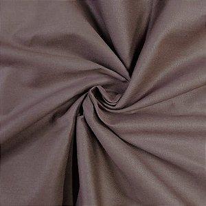 Tecido Tricoline Liso Marrom 100% Algodão - 1,00x1,50m