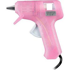 Pistola Cola Quente Rosa Ref GM-160E Rhamos e Brito