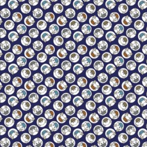 Tecido Tricoline Estampado Pet 100% Algodão - COR 229 - 1,00x1,50m