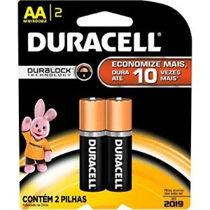 Pilha alcalina pequena AA  Duracell  2 UN