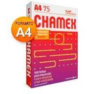 papel chamex pacote c/ 500 fls 75 grs