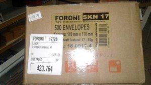 Envelope saco craft marrom 117 foroni 110 mm x 170 mm caixa com 500