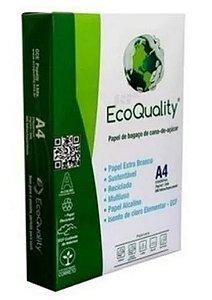 PAPEL SULFITE ECOQUALITY C/ 500 FLS FORMATO 210 X 297 EXTRA BRANCO