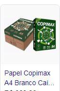 Papel A4 copimax branco 75 grs 500 fls suzano caixa c/ 10 pacotes