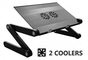Suporte de Notebook MultiFlex LIGHT com 2 Coolers de Ventilação