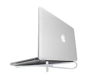 Base portátil para notebook dobrável p/ circulação de ar e ergonomia BRANCO