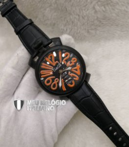 GAGA MILANO BLACK ORANGE CLASSIC - 966AL2KFY