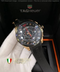TAG HEUER SLS BLACK BORRACHA - 7U3SDCQ9L