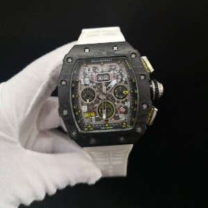 RICHARD MILLE FIBRA DE CARBONO WITHE - F2HRBL53E
