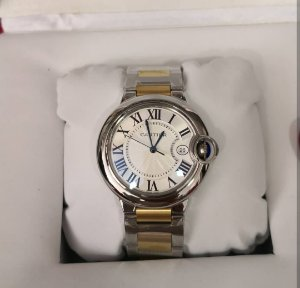 CARTIER BALLON BLEU QUARTZ GOLD AND SILVER  - XLKVC7CZN
