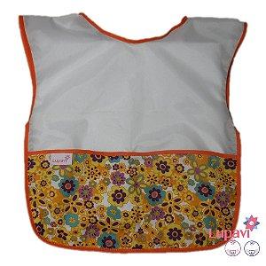 Avental Infantil Floral Laranja