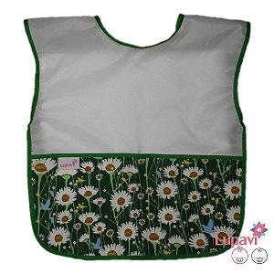 Avental Infantil Floral Verde