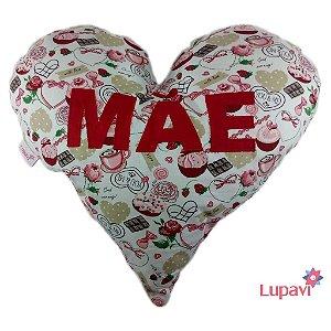 Almofada Coração de Mãe Cupcake