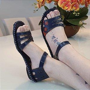 Sandália Retro New Life Azul/Laranja  12171-3