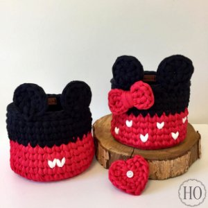 Kit cachepots Mickey e Minnie